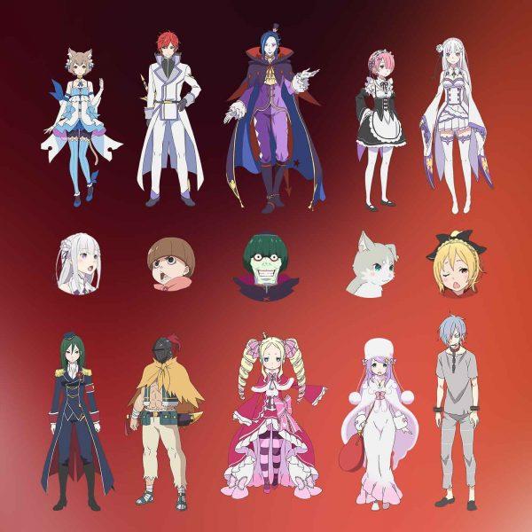 Re_Zero_characters_set