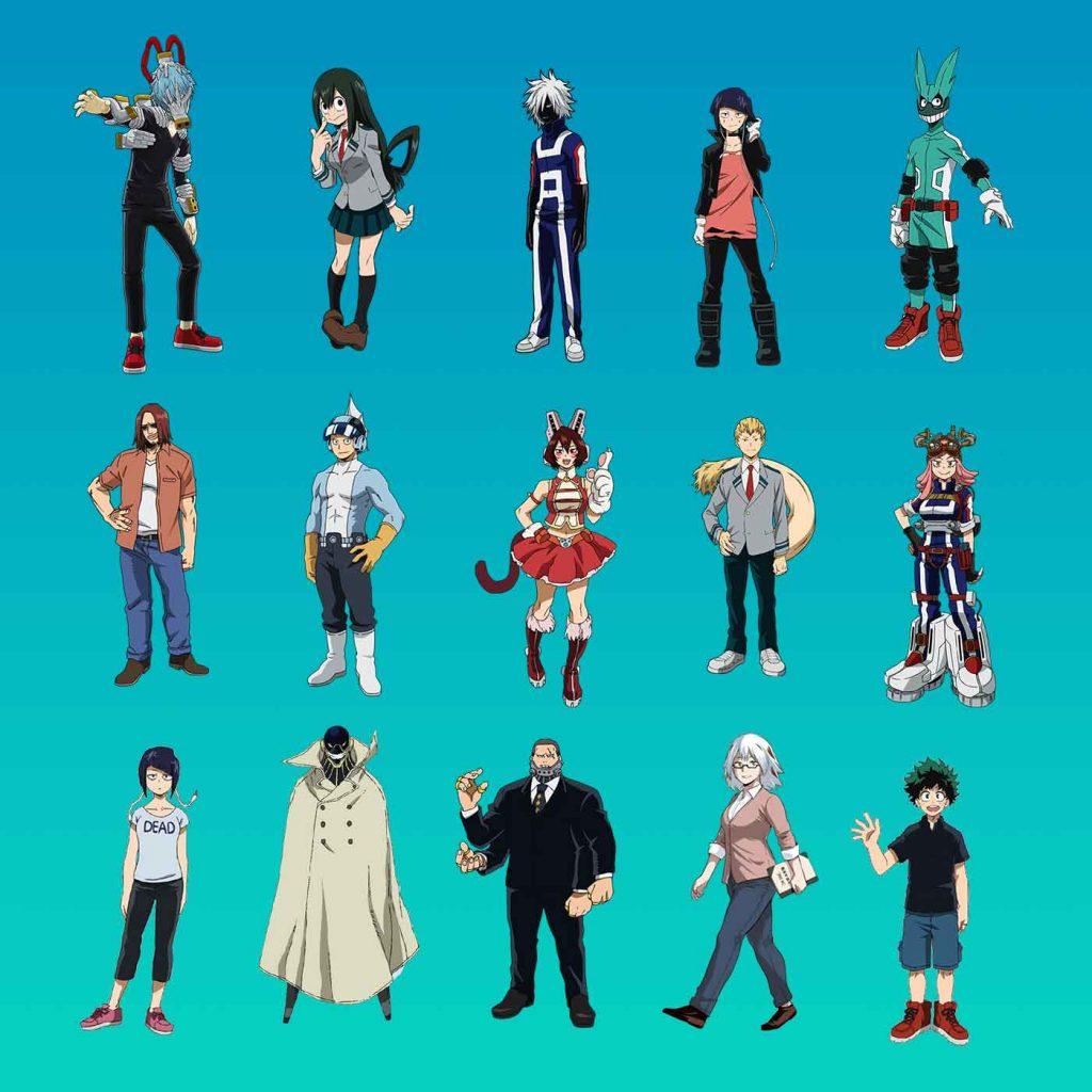 my-hero-academia-characters-set