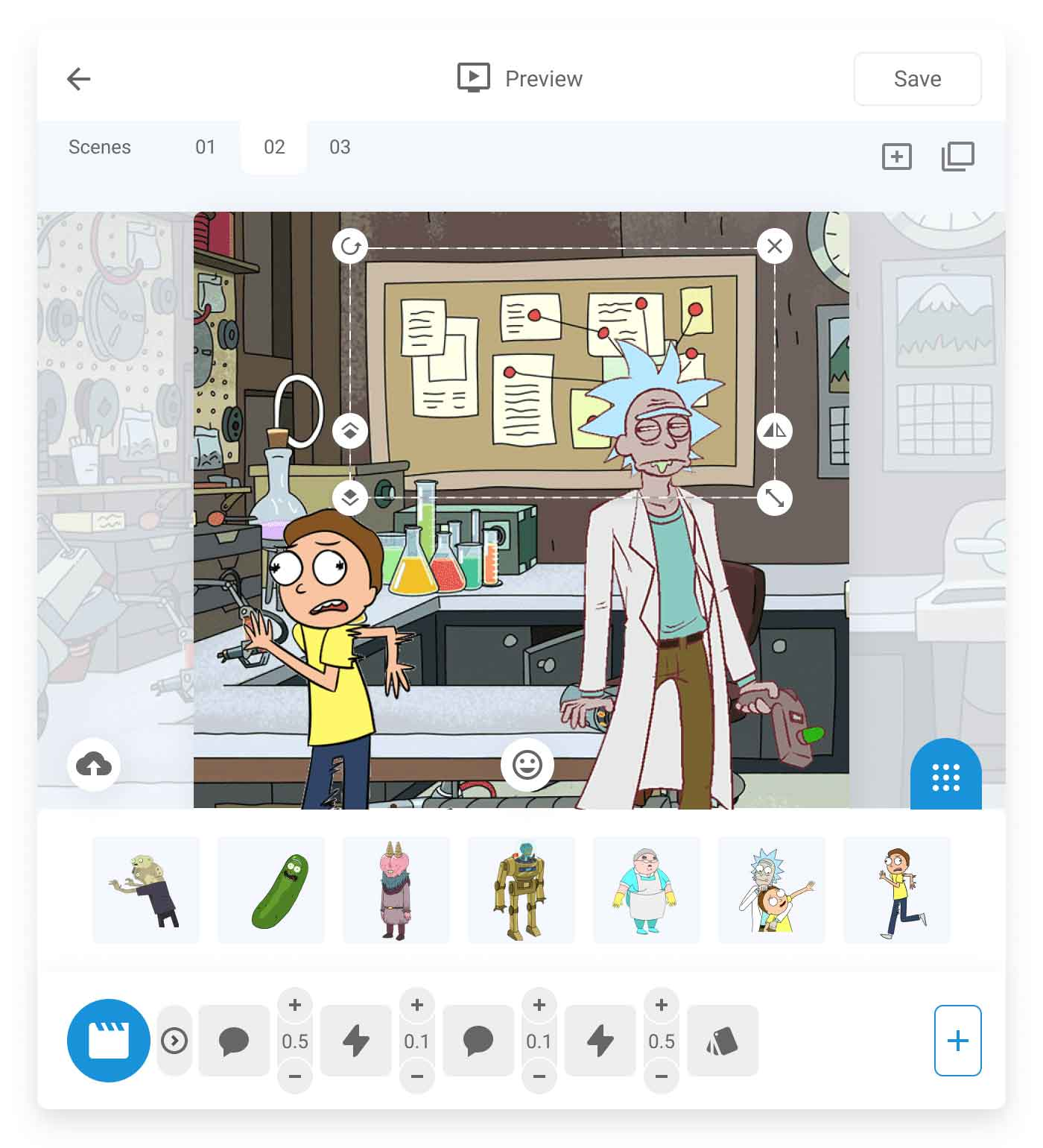 rick-and-morty-characters-clilk-editor