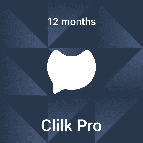 Clilk Pro - 12 months - Fonts, colors and music - Online animation