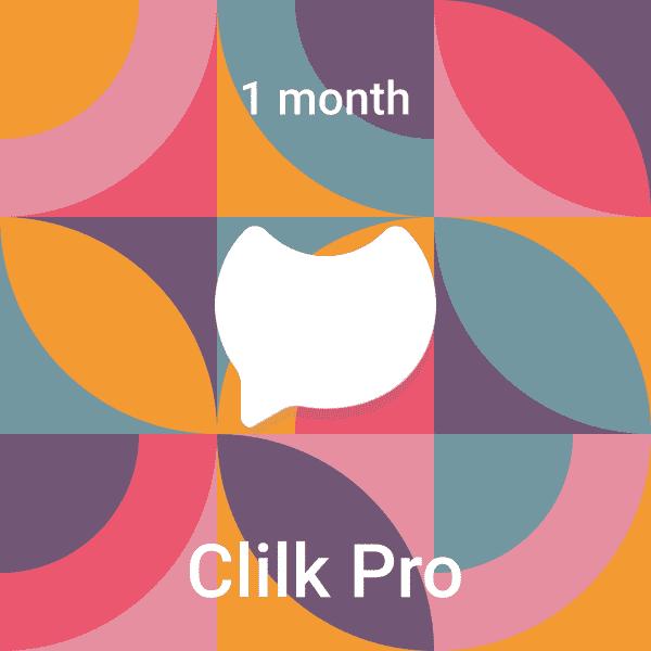 Clilk Pro 1 month