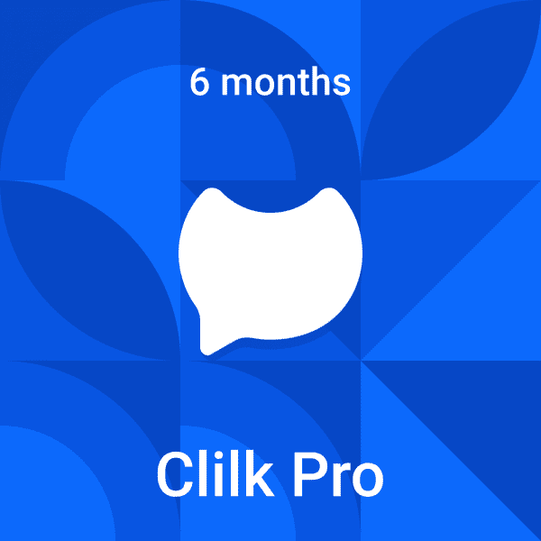Clilk Pro - 6 months - Fonts, colors and music - Online animation